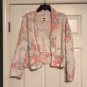 White floral blazer